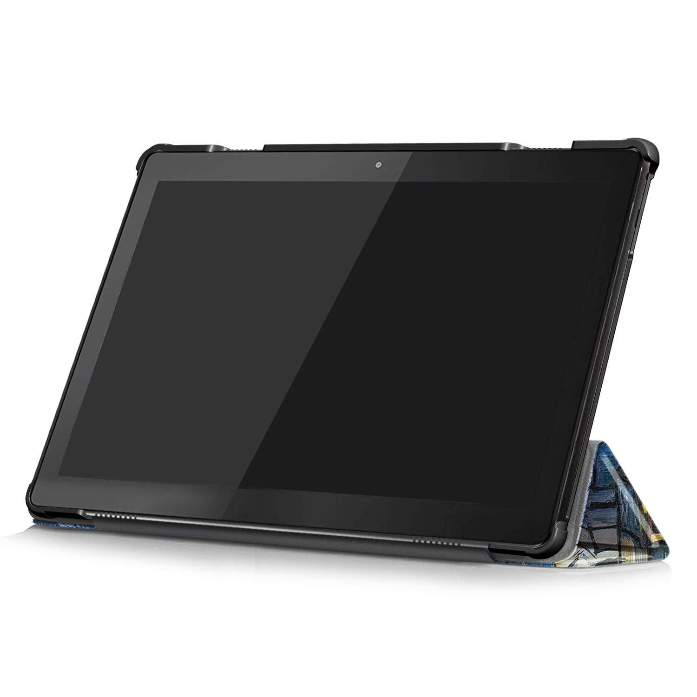 12 Fmway Cover Lenovo Tab M10 Slim Custodia Case Protettiva in Pelle PU per Lenovo Tab M10 TB-X605F