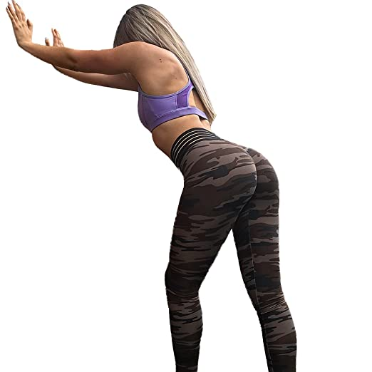 6e424ea67a361 WAYNE FINKELSTEIN Womens Yoga Pants Butt Lifting Active Workout Leggings  Camouflage XL