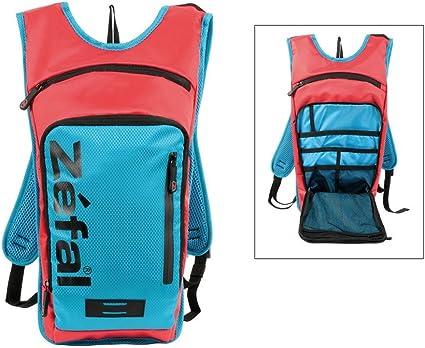 Mochila hidratante Zefal Z Light Hydro L con 2 litros depósito bebida rojo/azul: Amazon.es: Deportes y aire libre