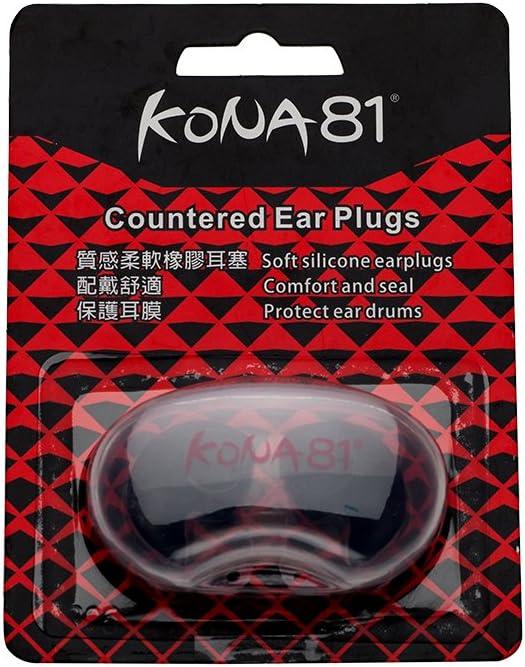 KONA81 Accessories -Ear Plugs with Storage Case Soft Comfortable Lightweight Reusable Chlorine-Proof Waterproof Unisex for Adults Men Women Children