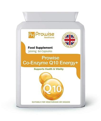 Coenzima Q10 (CoQ10) 300mg 60Cápsulas vegetarianas - Liberación rápida Alta absorción - Suplemento de Co-Q-10 de calidad GMP fabricado en el Reino ...