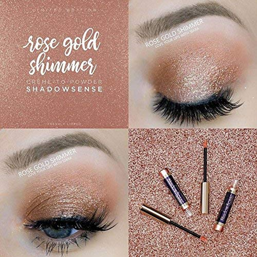 Shadowsense Creme To Powder Eye Shadow (Rose Gold Glitter)