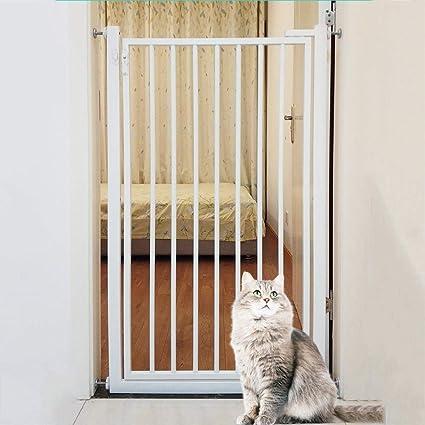 Barrera Seguridad 110cm De Alto Puertas De Seguridad para El Bebé/Perro/ Gatos, Pared/Escaleras 270 ° Two Way Abrir La Puerta De La Estancia/Incluye Kit De Extensión (Size : 90cm): Amazon.es: Hogar