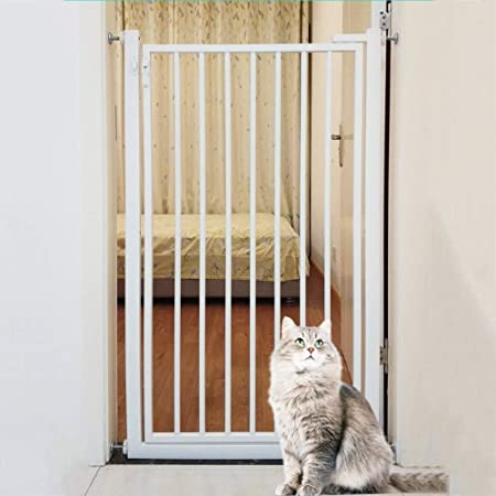 Barrera Seguridad 110cm De Alto Puertas De Seguridad para El Bebé/Perro/Gatos, Pared/Escaleras 270 ° Two Way Abrir La Puerta De La Estancia/Incluye Kit De Extensión (Size : 81-83cm): Amazon.es: Hogar