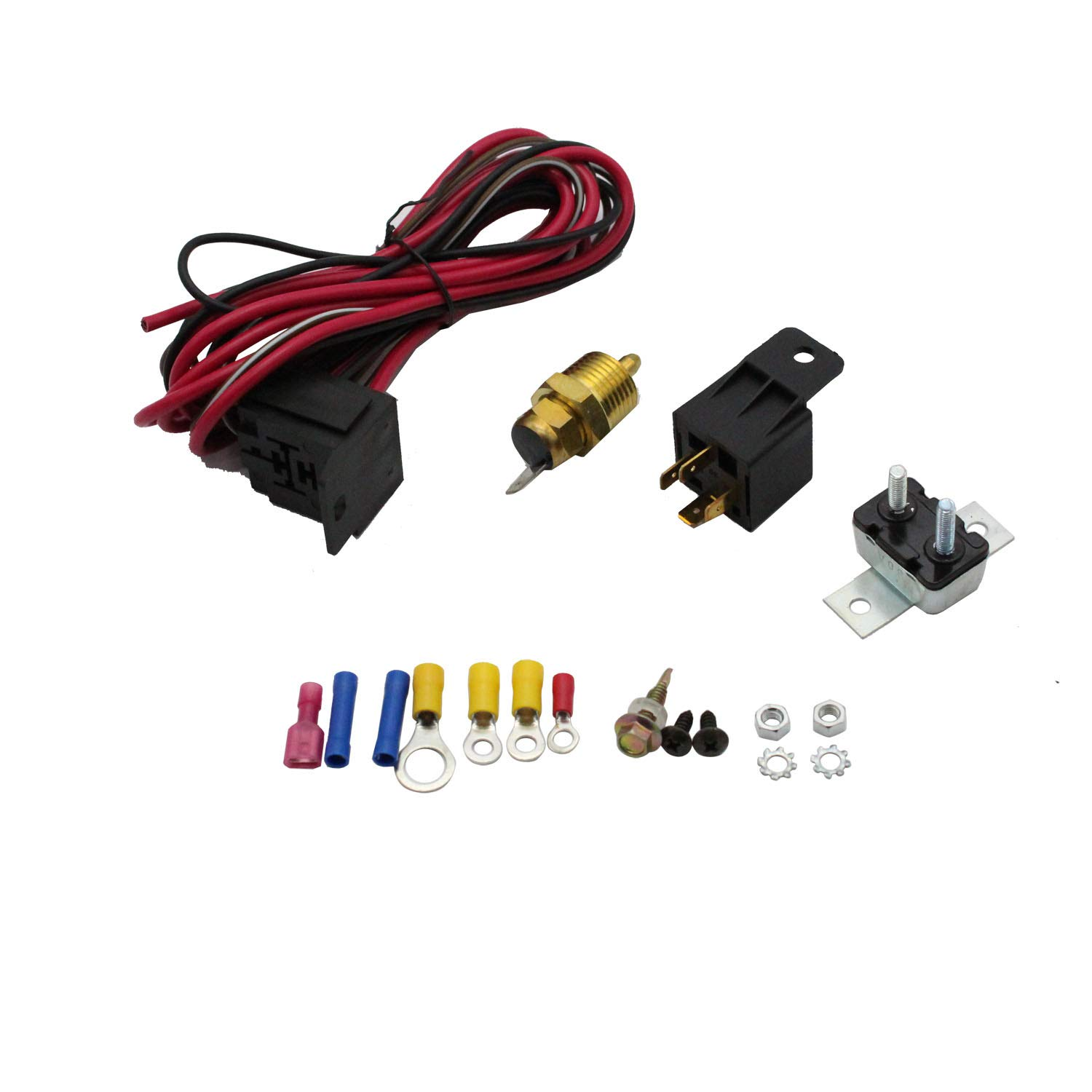 sbc thermostat wiring amazon com takpart electric fan wiring install kit 3102 complete  takpart electric fan wiring install