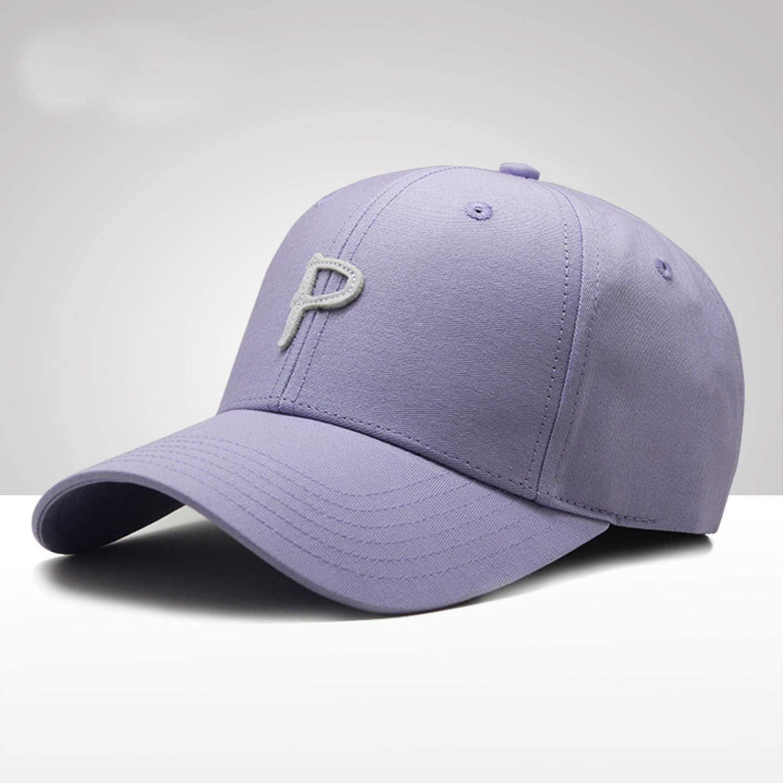 Embroidery Letter P Baseball Cap for Men Women Spring Summer Caps Twill Cotton Strapback Sun Hats Adjustable
