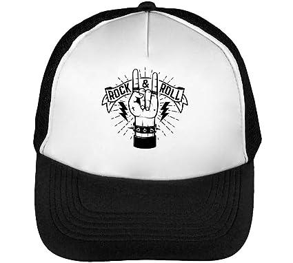 Rock & Roll Hand Design Gorras Hombre Snapback Beisbol Negro ...