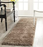 Safavieh Milan Shag Collection SG180-1414 Dark Beige Runner (2' x 14')
