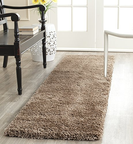 Safavieh Milan Shag Collection SG180-1414 Dark Beige Runner (2' x 14') - 14 Runner