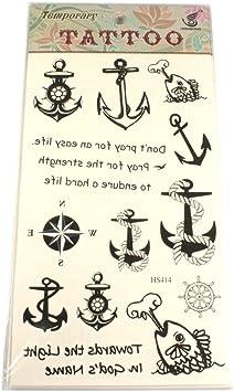 Tatuajes con motivos de ancla, Pesca, remo de impuestos, brújula y ...