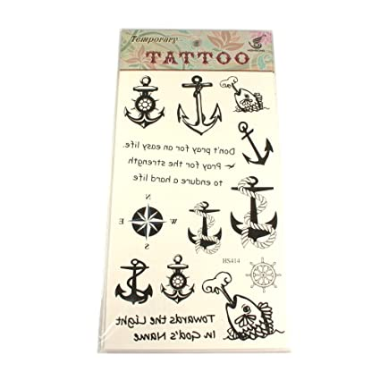 Tatuajes con motivos de ancla, Pesca, remo de impuestos, brújula y lemas