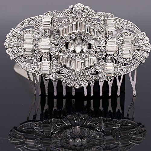 Palace Vintage Style Women Wedding Rhinestone Crystals Hair Comb Jewelry Accessories 5186CLE