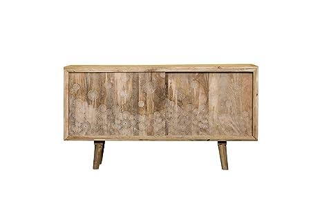 Sideboard Mangoholz Massivholz Trockenblumen Modern Vintage ...