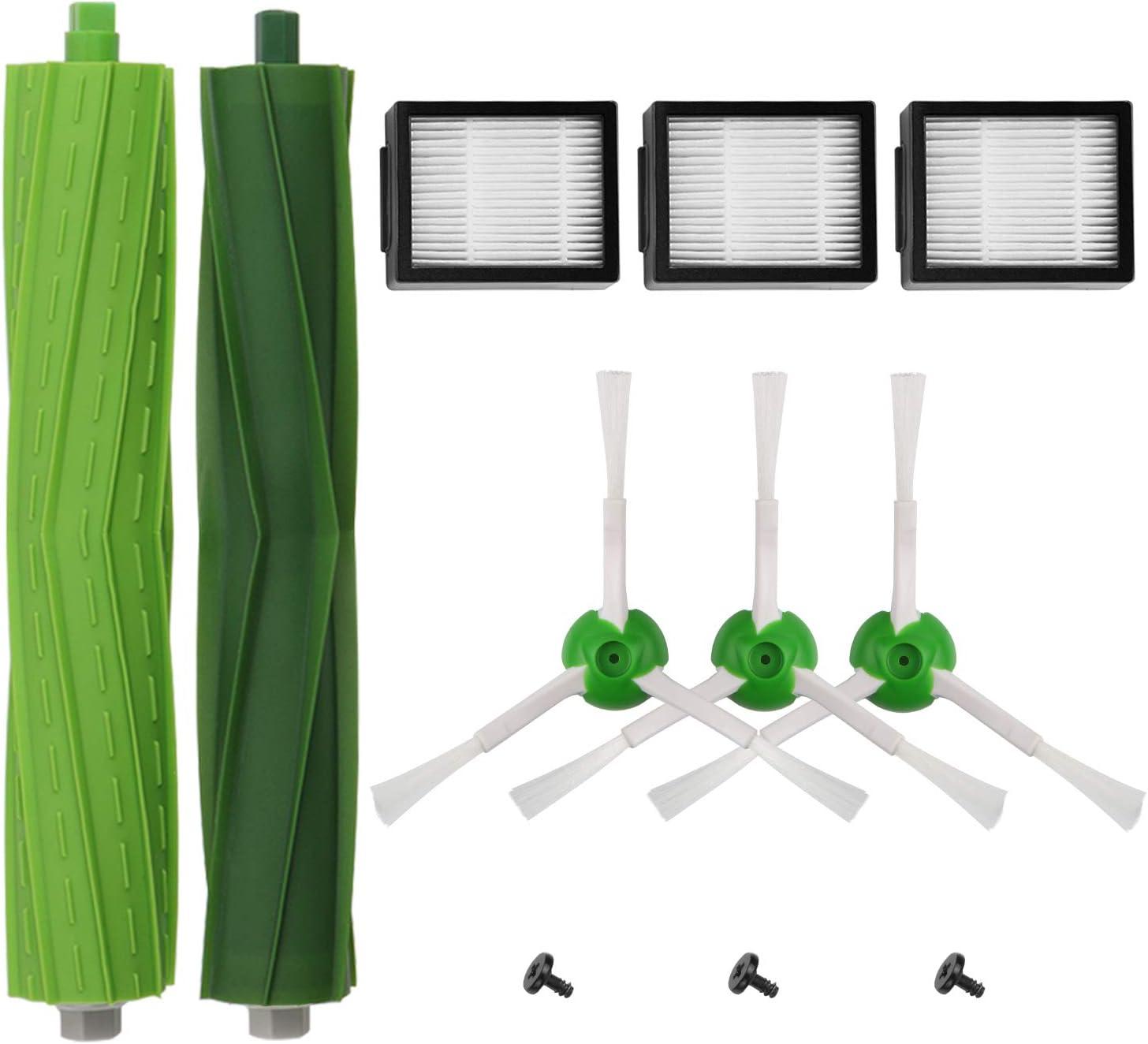Blue Power Piezas de Repuesto filtrar los para cepillos iRobot Roomba i7 i7 + / i7 Plus E5 E6 Serie E7, Kits de reemplazo de Accesorios Roomba i & e Series