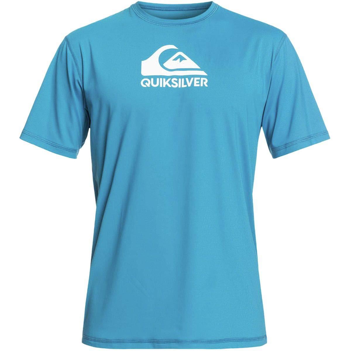 Quiksilver Mens Solid Streak Ls - Short Sleeve Upf 50 Surf T-Shirt Short Sleeve Upf 50 Surf Tee Blue M