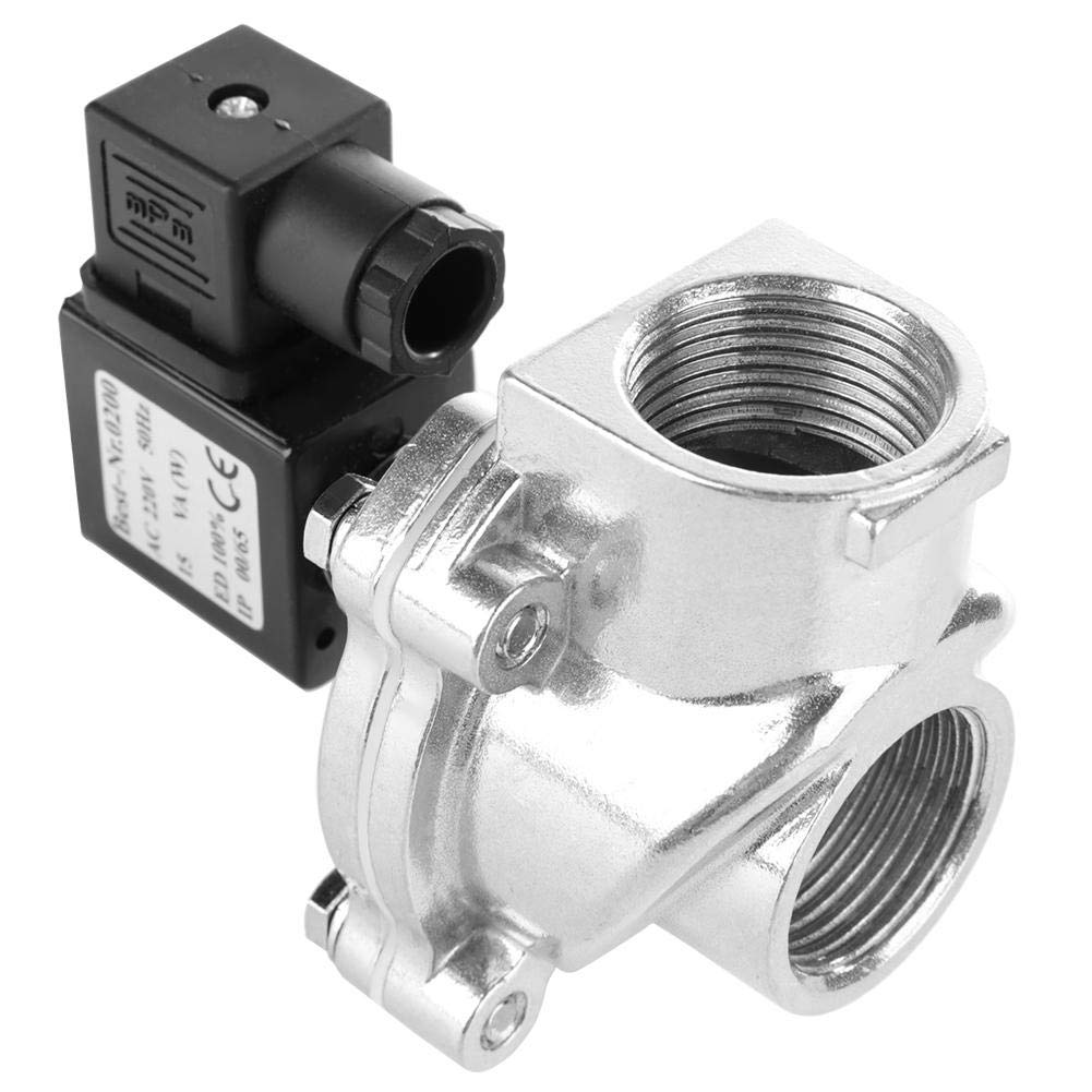 32mm Steel Right Angle Diaphragm Valve 0.3-0.6Mpa Solenoid Valve Electric Magnetic Valve Durable Long Service Life Electric Solenoid Valve DC 24V