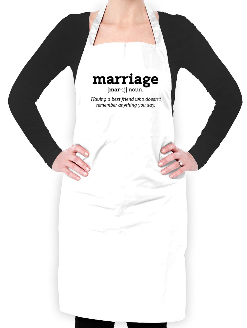 Dressdown Marriage Definition - Unisex Adult Apron - White - One Size