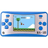 ZHISHAN Portable Handheld Game Console Gaming Player Birthday Gift for Kids Built in 168 Classic Retro Games(Blue)