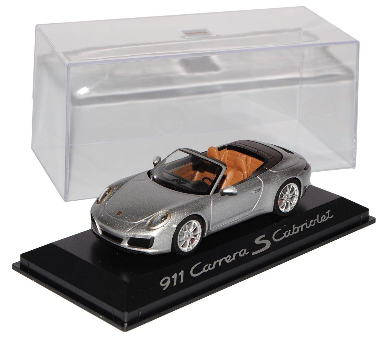 Porsche 911 991 II Carrera Cabrio Silber Modell Ab 2012 Ab Facelift 2015 1/43 Herpa Modell Auto mit individiuellem Wunschkennzeichen