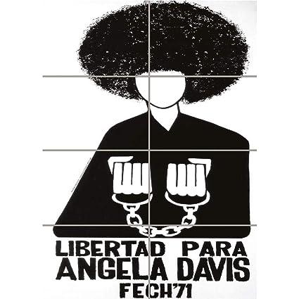 FREE ANGELA DAVIS CIVIL RIGHTS BLACK PANTHER COMMUNIST CHILE ART AFICHE CARTEL IMPRIMIR CARTELLO POSTER PD2271