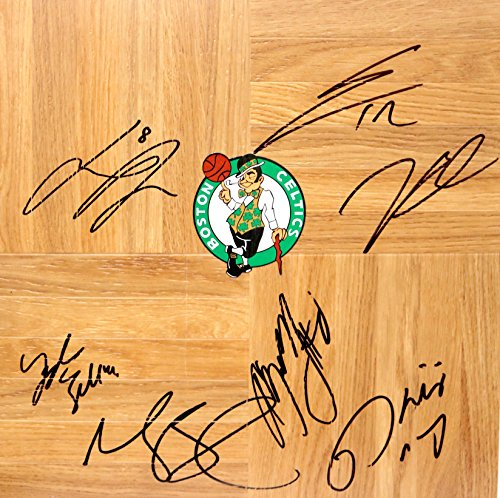 Boston Celtics 2014-15 Team Autographed Signed Basketball Floorboard (Team Floor Signed)