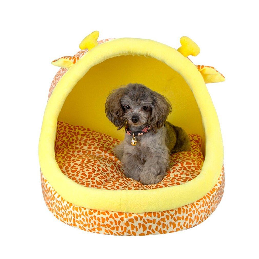 Gato camada perrera perro pequeño Peluche otoño e invierno perrera desmontable perro cama Gato cama cerrada gato litera villa conjunto completo dibujos ...