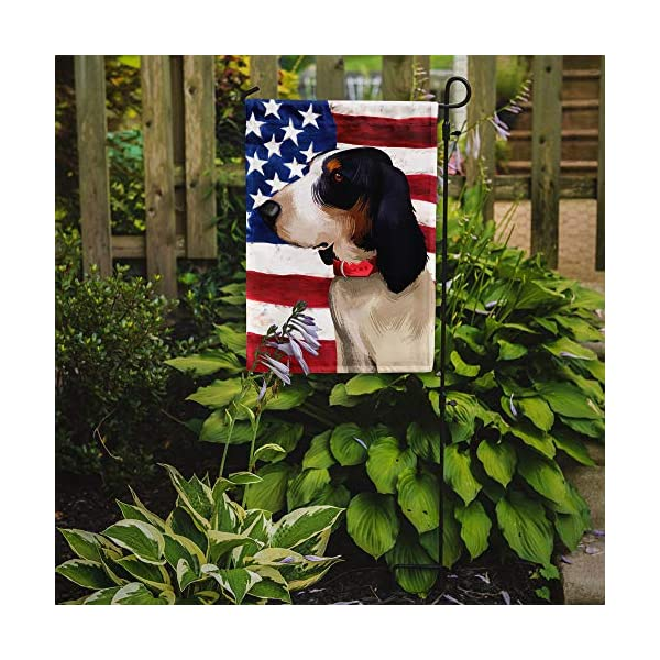 Caroline's Treasures CK6407GF Ariegeois Dog American Flag Flag Garden Size, Small, Multicolor 2
