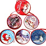 vientiane Christmas Earphone Box Mini Earphone Set, Cute Macaron Shape For Earplugs, Headphones, MPS Player, USB Cable, Keys, Coins, Can Also Be Used As A Christmas Tree Ornaments (The set has 6