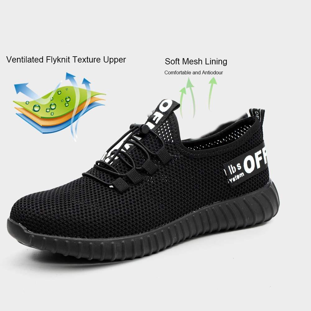 Gainow Zapatos de Seguridad Zapatos de Trabajo Zapatos con Punta de Acero Ligero y Transpirable Hombres Mujeres Deportes Unisex Zapatos de Verano