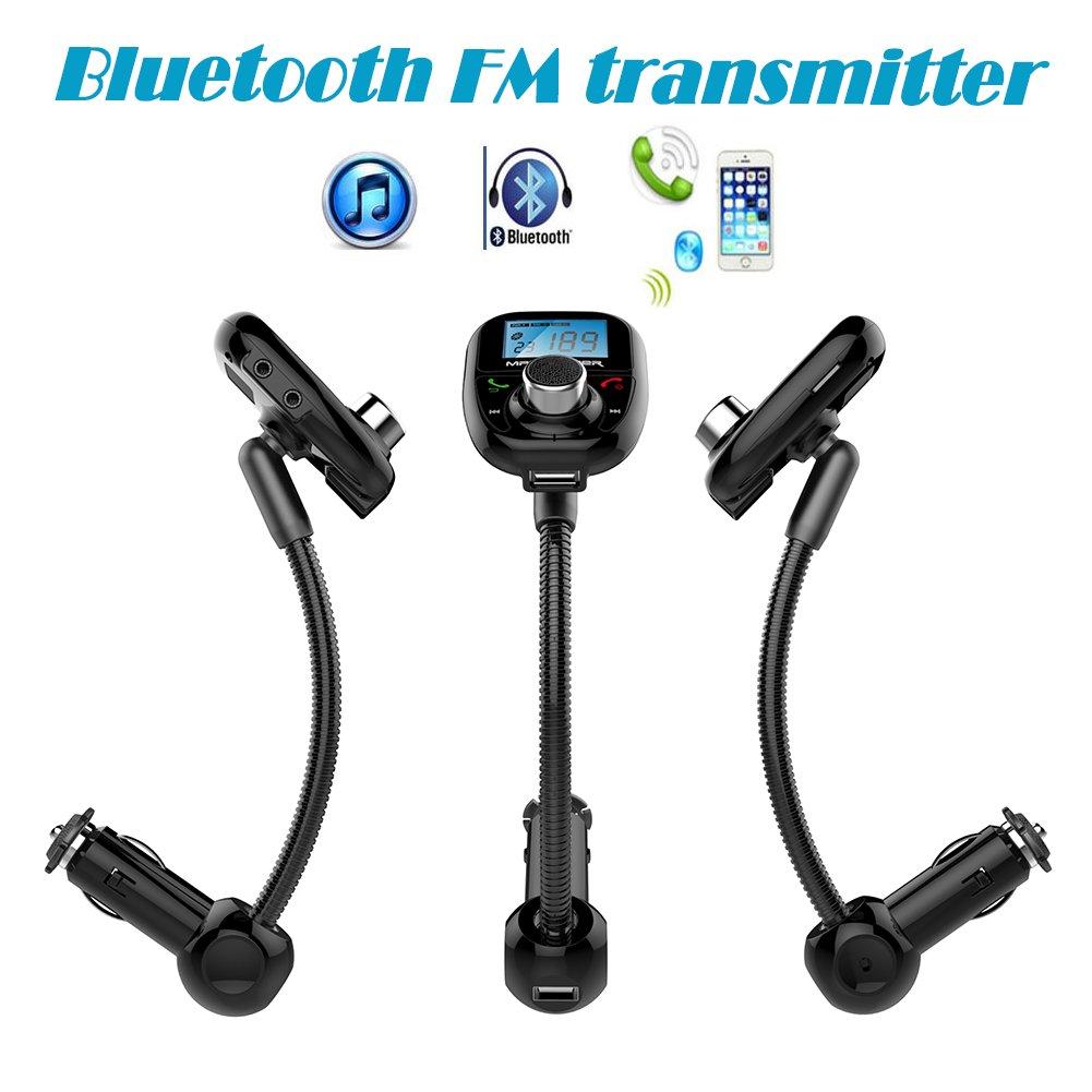 Car MP3 Player Bluetooth FM Transmitter Wireless FM Modulator Remote Control Car Kit Hands-Free Talk A2DP USB SD MMC New 2015