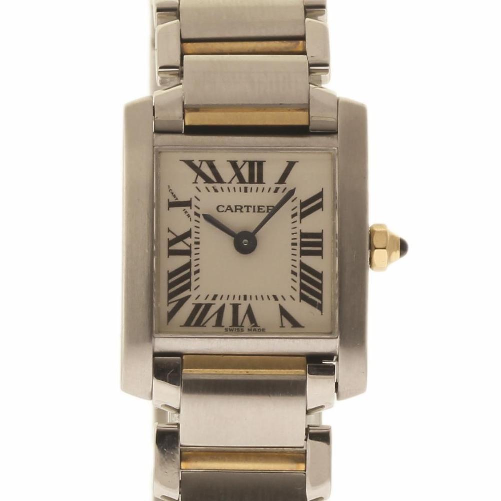 Cartier Tank Francaise swiss-quartz womens Watch W51007Q4 (Certified Pre-owned)