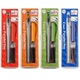 Pilot Parallel Calligraphy Pen Set, 1.5 mm, 2.4 mm, 3.8 mm and 6 mm with Bonus Ink Cartridge (P9005SET)