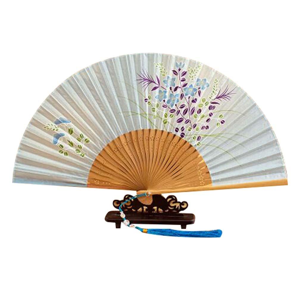 Panda Superstore Dance Party Beautiful Folding Fan Women's Handheld Fan Colorful Hand Fan