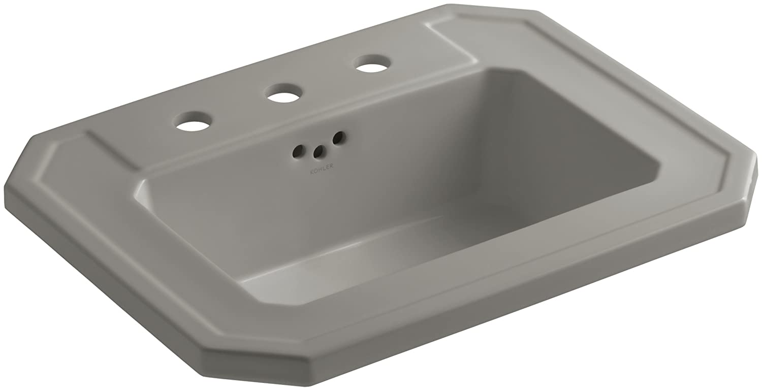 KOHLER K-2325-8-K4 Kathryn Self-Rimming Bathroom Sink with 8 Centers, Cashmere