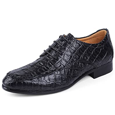 2c935d0c0bf REETENE Men s Lace Up Oxford Business Office Wedding Dress Shoes for Men