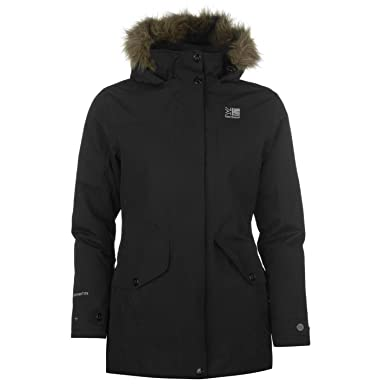 9ab65a4d2074 Karrimor Womens Parka Jacket Coat Top Chin Guard High Neck Waterproof  Windproof Black 8 (XS)  Amazon.co.uk  Clothing
