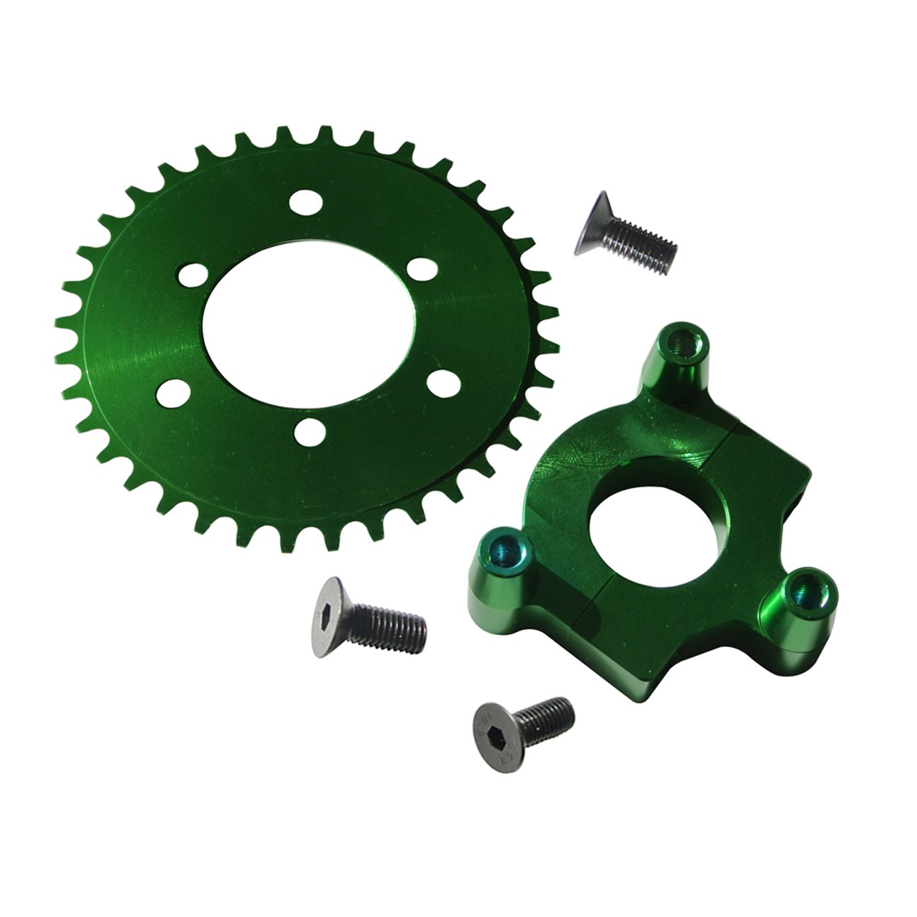 New Modified CNC 36T Sprocket With Adapter Green Fit 80cc Motorized Bicycle