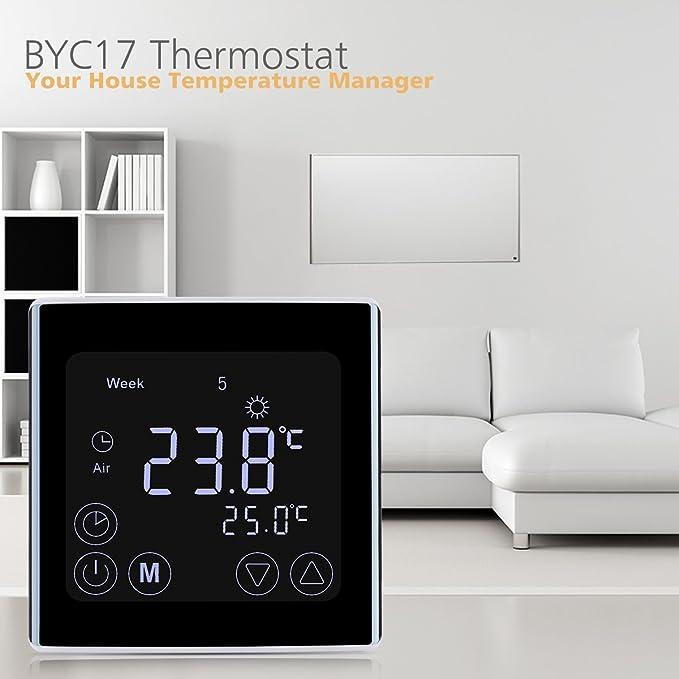 150 opinioni per FLOUREON Termostato per caldaia a gas, regolatore della temperatura ambientale