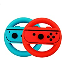 ELM Game Steering Wheel for Nintendo Switch - Blue/Red (2 Pack)
