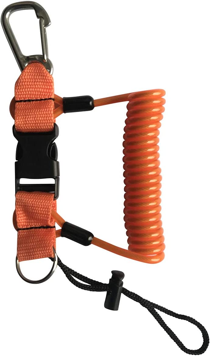Diving Lanyard Anti-Lost Spring Coiled Buckle for Diving Camera Cover Rope Kinno Scuba Spring Rope