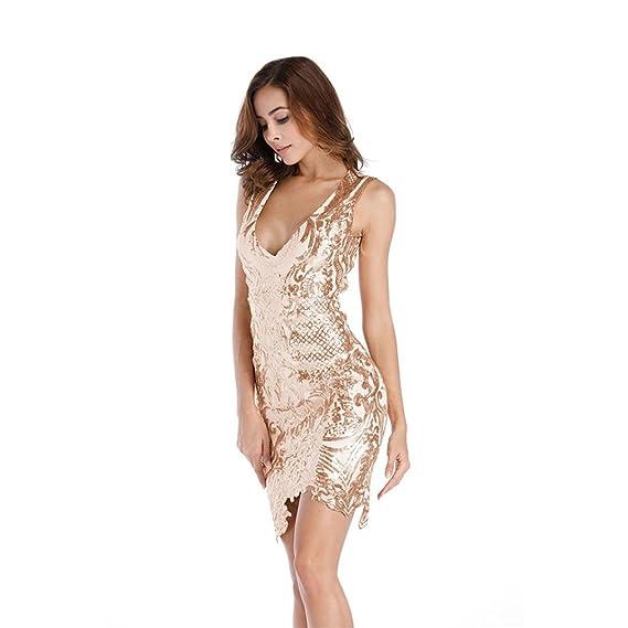 Robe de femme Femmes robe solide col en V sans manches jupe de printemps  partie simple gaine au-dessus du genou robes  Amazon.fr  Vêtements et  accessoires f32f00c67f45
