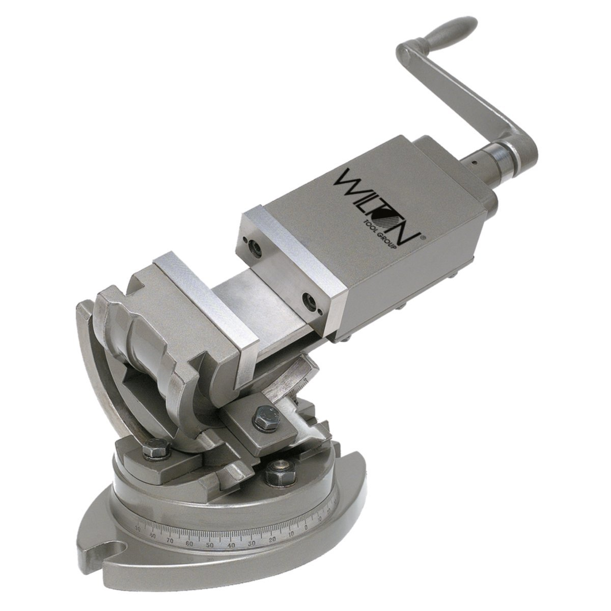 Wilton 11702 3-Axis Precision Tilting Vise 4-Inch Jaw Width, 1-1/2-Inch Jaw Depth by WILTON