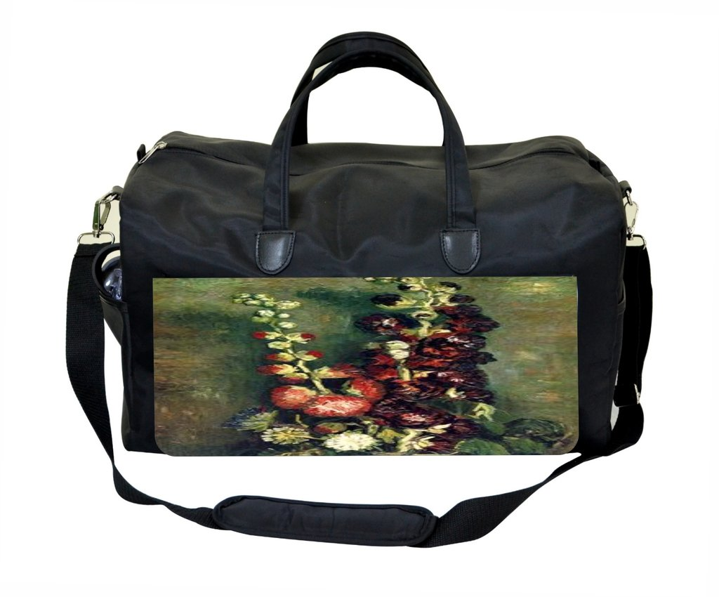 Vincent Van Gogh Vase with Hollyhocks Gym Bag