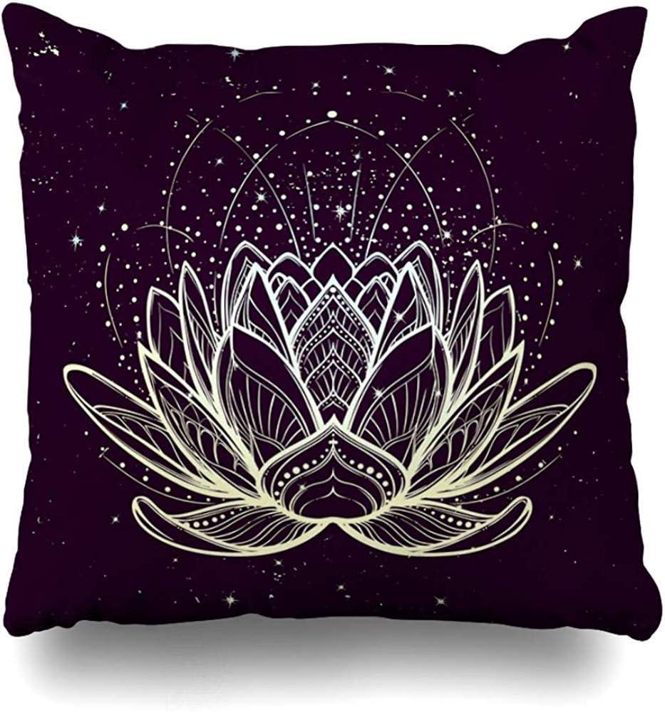 UQ Galaxy Pillowcases,Lotus Flower