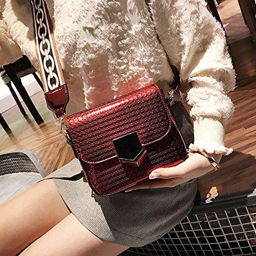 Editha Satchel Cross Mini Sling Women Bag Bag Drawstring Bag Holographic Glitter 2512 Red body rYCxpwraq