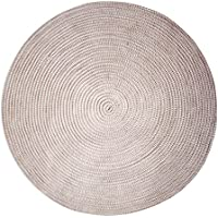 USTIDE Modern Round 8x8 Braided Area Rug Outdoor Carpet Washable Woven Rugs Reversible Patio Deck Carpet