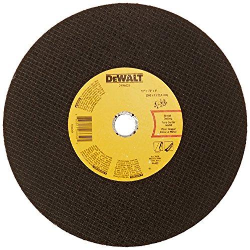 (DEWALT DWA8032 Metal Port Saw Cut-Off Wheel, 12-Inch X 1/8-Inch X 1-Inch )