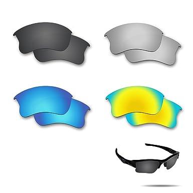 1b2345565b Amazon.com  Fiskr Polarized Replacement Lenses for Oakley Flak Jacket XLJ  Sunglasses 4 Pairs Pack  Clothing