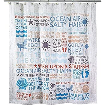 Amazon Com Misc Seahorse Shower Curtain Teal Green Tan