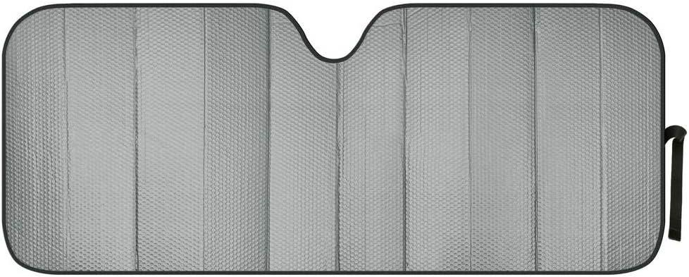 Motor Trend Front Windshield Sun Shade - Jumbo Accordion Folding Auto Sunshade for Car Truck SUV - Blocks UV Rays Sun Visor Protector - Keeps Your Vehicle Cool - 66 x 27 Inch (Gray)
